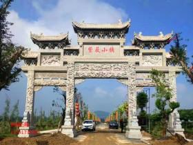 广东农村石大门图片样式及价值