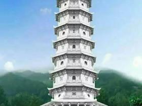 六个佛塔石塔的图片样式